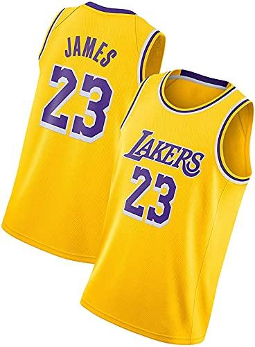 ALXLX Camiseta de baloncesto Michael Jordan NBA Bulls 23# para hombres y mujeres, con bordado de malla, transpirable y moderno, amarillo, XXL