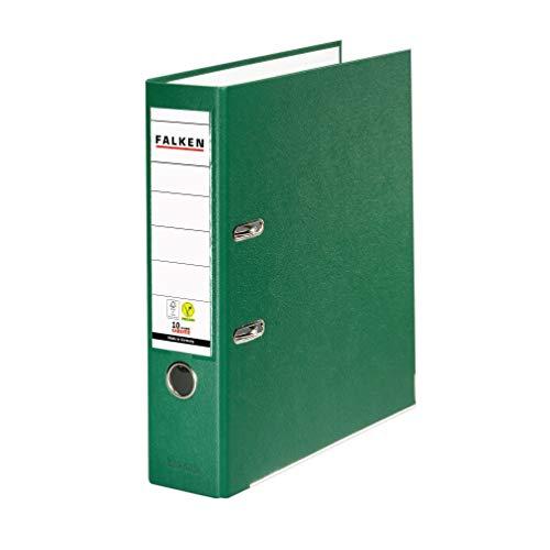 Original Falken PP-Color Kunststoff-Ordner. Made in Germany. 8 cm breit DIN A4 grün Ringordner Vegan Aktenordner Briefordner Büroordner Plastikordner Schlitzordner
