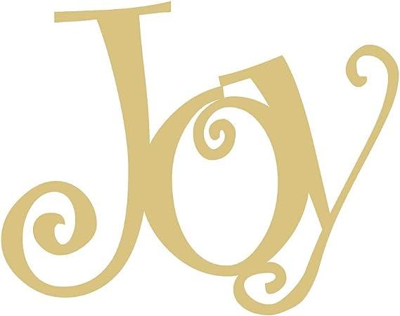 Amazon Com Word Joy Cutout Unfinished Wood Christmas Holiday Seasonal Door Hanger Mdf Shape Canvas Style 1