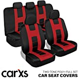 Best Car Seat Covers - carXS Forza Series Red & Black Car Seat Review