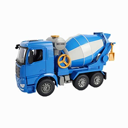 LHY Robustos camiones de juguete de construcción de vehículos de juguete para tractores, camiones, tractores, camiones, camiones de juguete para niños duraderos (color: Cemento cisterna)