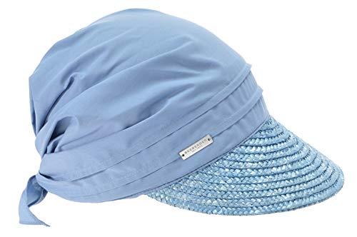 Seeberger Damen Serie Rügen Schirmmütze, Blau (hellblau 0067), 57 cm (Herstellergröße: one size)