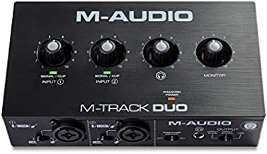 M-Audio M-Track Duo – USB Audio Interface for Recording, Streaming and Podcasting with Dual XLR, Line & DI Inputs, Plus a Software Suite Included