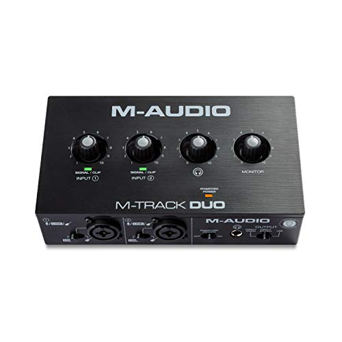 M-Audio M-Track Duo – Interfaccia audio USB per la registrazione, lo streaming e il podcasting, con due ingressi XLR, ingressi di linea e DI, più suite software inclusa