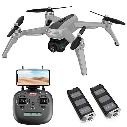 40mins(20+20) Long Flight Time Drone for Adults,JJRC Drone with 2K FHD Camera Live Video, 5G WiFi FPV GPS Return Home Quadcopter with Brushless Motor, Follow Me, Long Control Range (Gray)