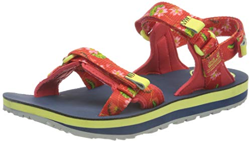Jack Wolfskin Outfresh Deluxe Sandal W, Arrampicata Donna, Tulip Red all Over, 38 EU
