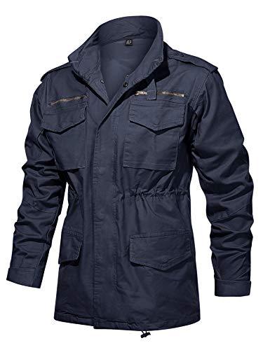 Men Cotton Field Jacket Navy