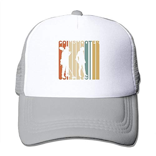 Reputation shop Retro 1970's Coin Shooter Youth Mesh Baseball Cap Summer Adjustable Trucker Hat