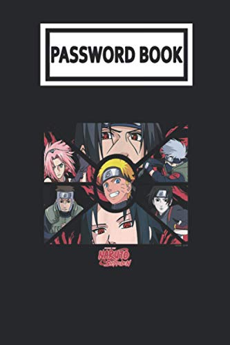 Password Book: Naruto Shippuden Group Panels Password Organizer with Alphabetical Tabs. Internet Login, Web Address & Usernames Keeper Journal Logbook for Home or Office