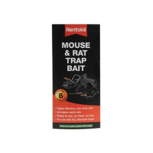 Rentokil Mouse and Rat Trap Bait Appât, Noir, 0,2x7x15 cm