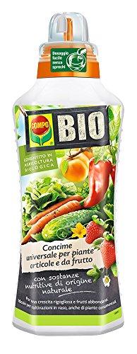 COMPO BIO Fertilizante universal para plantas hortícolas y hortofrutícolas, permitido en agricultura ecológica, 1 l