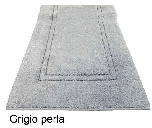 CASA TESSILE Tapis de Bain antidérapant en Bambou - Grigio Perla, 78x160 cm.