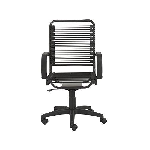 Eurø Style Bradley Bungie Office Chair, L: 27 W: 23 H: 37.5-43 SH: 17.5-23, Black