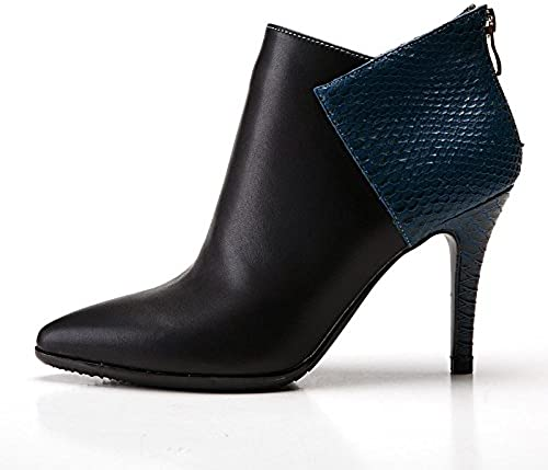 Hsxz Femme Chaussures synthétique en microfibre PU Cuir Winter Fall fantaisie Mode Bottes Bottes Stiletto Talon Bout Pointu Chaussons Bottines