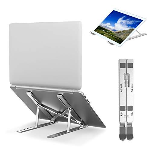 Universal Laptop Stand, Notebook Holder, Foldable Ventilated Desk Tablet Aluminum Alloy Ergonomic Laptop Riser, Adjustable 7 Levels Height