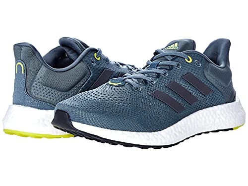 adidas Men's Pureboost 21 Trail Running Shoe, Blue Oxide/Night Metallic/Halo Silver, 8.5