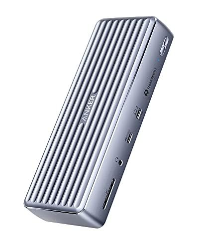 Anker PowerExpand Elite 12-in-1 Thunderbolt 4 Dock (APEX) ドッキングステーション 90W出力 USB Power Delivery 対応 USB-Cポート 8K対応 4K対応 HDMIポート USB-Aポート 1Gbps イーサネットポート 3.5mm オーディオジャック SDカード スロット搭載