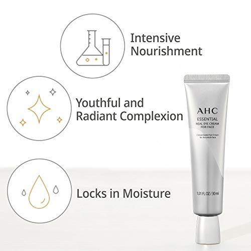 41Fo5AEcRJL - Aesthetic Hydration Cosmetics AHC Face Moisturizer Essential Eye Cream for Face Anti-Aging Hydrating Korean Skincare 1.01 oz