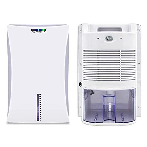 Deumidificatore da 2000 ml, compatto e portatile contro umidità, sporco e muffa in casa, bagno, ufficio o cantina con sterilizzazione a raggi UV - 700 ml   giorno