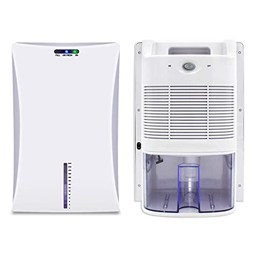 Deumidificatore da 2000 ml, compatto e portatile contro umidità, sporco e muffa in casa, bagno, ufficio o cantina con sterilizzazione a raggi UV - 700 ml / giorno