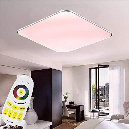 Aufun 24W LED Deckenleuchte RGB, Deckenlampe für Flur, Küche, Wohnzimmer, Büro, Modern Farbwechsel Lampe Schutzart IP44, Energie Sparen, 380x380 mm, Dimmbar (2800-6500K) inkl. Fernbedienung