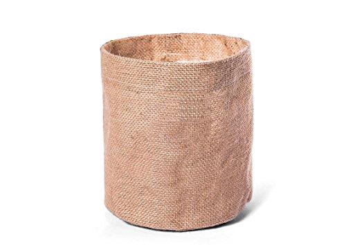 Hotex Übertopf aus Jute / 16 x 18 cm/Natur-beige/als Dekoration oder Aufbewahrungsbox geeignet/innen folienbeschichtet/funktional und dekorativ