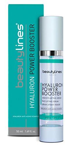 Beautylines Hyaluron Booster, 50ml hochdosiertes High Level Hyaluron mit Botoxeffect, Agiriline®, Hyadisine®