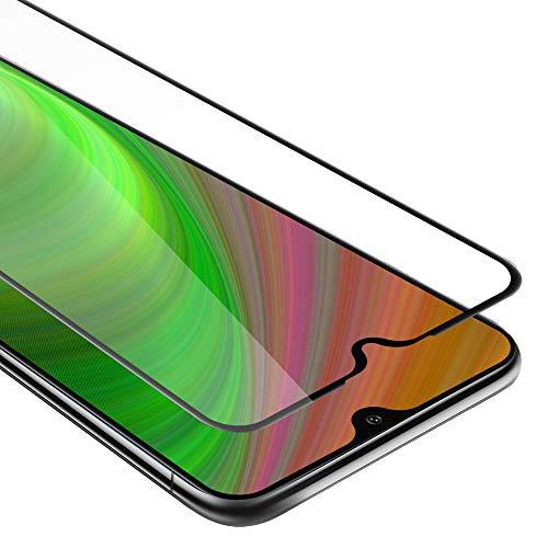 Cadorabo Pellicola Protettiva per Samsung Galaxy A10 in Trasparente con Nero - Vetro di Protezione Temprato Blindato (Tempered) Schermo Intero per Display con 3D Touch e 9H