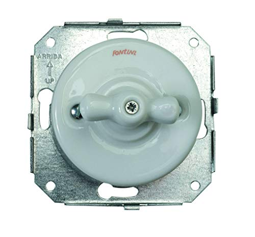 Fontini garby - Interruptor unipolar m.porcelana garby pack
