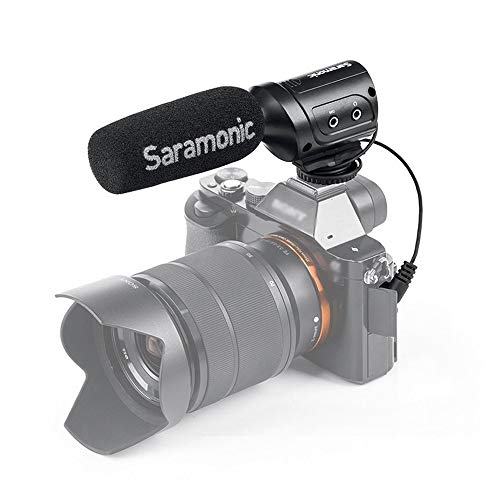Saramonic sr-m3Mini-Microphone direccional de Condensador con suspensión integrada para DSLR/Videocámara, Color Negro