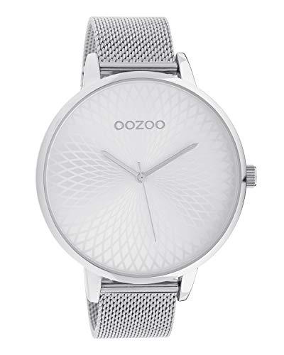 Oozoo Damenuhr mit Edelstahl Milanaiseband und Mandala Zifferblatt Silberfarben 48 MM C10550