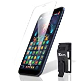 【 さらさら感 】(日本品質) iPhone12 Pro ガラスフィルム アンチグレア フィルム 【パズルゲーム用】速フリック 指紋つきにくい 超さらさら感 (らくらくクリップ付き) ガラスザムライ OVER's 283-ang