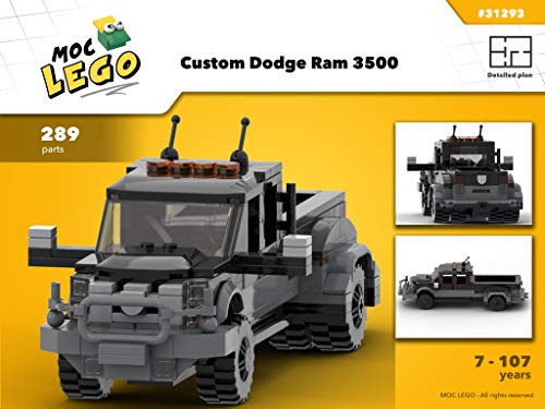 Custom Dodge Ram 3500 (Instruction Only): MOC LEGO (English Edition)