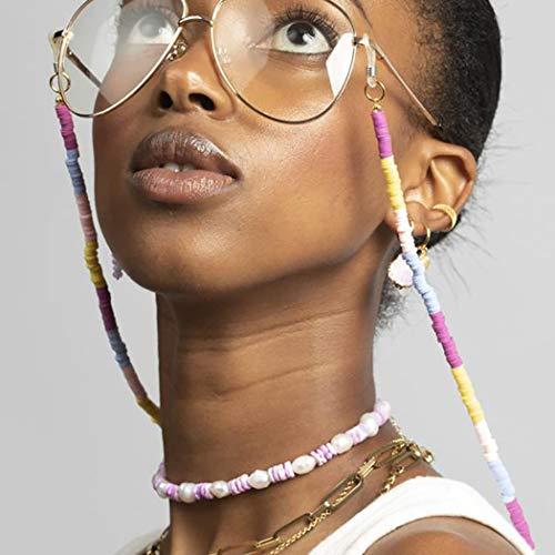 Bohend Boho Cadena larga para gafas de sol Oro bohemio Cadena de mascarilla Mujer Cadena de anteojos Accesorios para gafas por Los anteojos Y Máscaras faciales