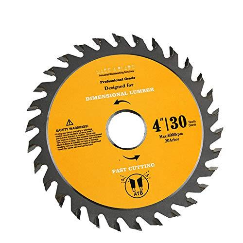 Fortspang - Disco amoladora angular de 10 cm con 30 dientes para cortar madera