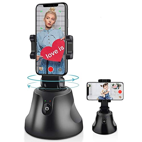 Digital Cameraman - 360° Face Tracking Swivel & Pan Rotating Motion Track Smartphone Mount [Face & Object Motion Tracker Follows You Around] for LiveStream, YouTube, TikTok Videos