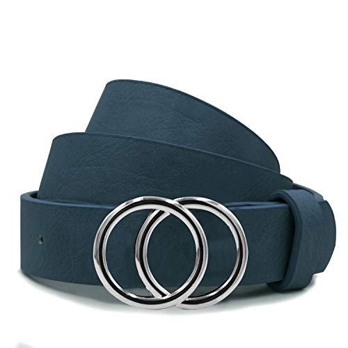 Gloop Ceintures pour femmes de couleurs unies, ceintures à boucle à double joint torique, ceintures à la taille, ceintures synthétiques ceintures pour robes de pantalons