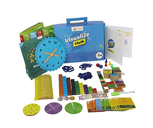 sparklebox Math Learning kit for Grade 4   Age Group 6-10   24 Concepts Learning Activities for cbse /icse/State Board-Blue