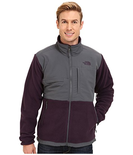 The North Face Men's Full Zip Denali Jacket Recycled Dark Eggplant Purple/Vanadis Grey Large
