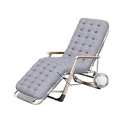 AWJ Sillas de salón Zero Gravity Sillas de Playa Sillas de Patio Sillón reclinable Plegable Ajustable Patio al Aire Libre Playa, cómodo sillón reclinable de Playa para o