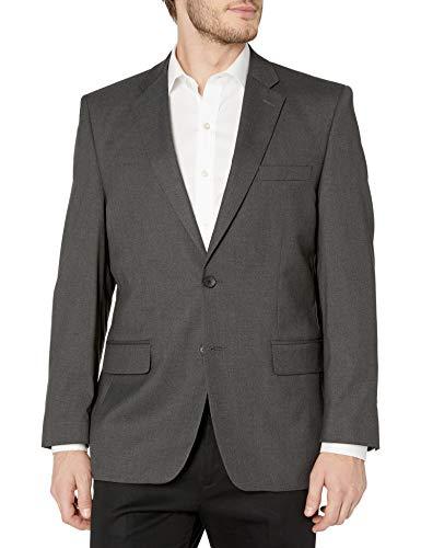 Haggar Men's J.m Premium Performance Stretch Stria 2-Button Suit Separate Coat, Dark Heather Grey, 44R