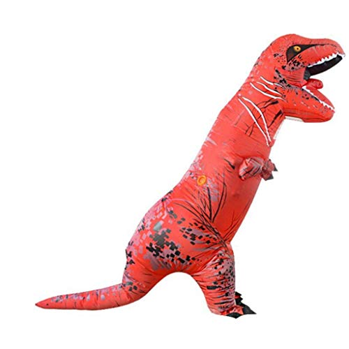 Xinxie Halloween Kostüm Halloween Erwachsene Aufblasbare T Rex Dinosaurier-Partei-Kostüm Lustige Kleid Kostüm Party Geschenk Phantasie Dress Up Cosplay Party Kostüm Gelb,Rot
