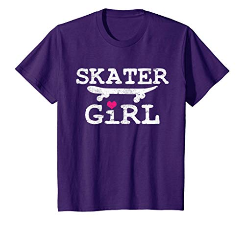 Kids Skater Girl Skateboard Skateboarding Skateboarder T-Shirt