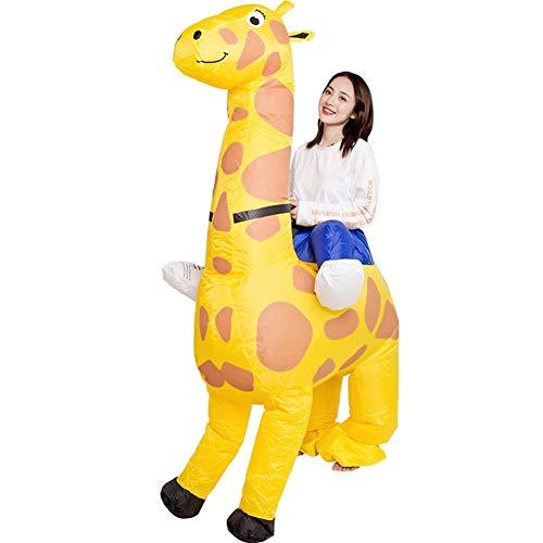 MOSHANG Trajes inflables, caballo muñeca de dibujos animados jirafa, conveniente for la altura 4.52ft-6.25ft, protección del medio ambiente de la PU tejido de poliéster recubierto, traje del partido d