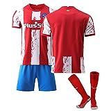 QHMWP Camiseta NiñOs Adultos, 2122 Atlético de Madrid Local, Camiseta Partido Unisex Camiseta FúTbol para NiñOs, Entrenamiento Camiseta FúTbol, Camisetas FúTbol Vintage Camiseta