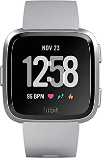 Fitbit Versa con Rilevazione del Battito Cardiaco, oltre 4 Giorni di Autonomia della Batteria, Resistente All'acqua, Grigio (B07B9SGH68) | Amazon price tracker / tracking, Amazon price history charts, Amazon price watches, Amazon price drop alerts