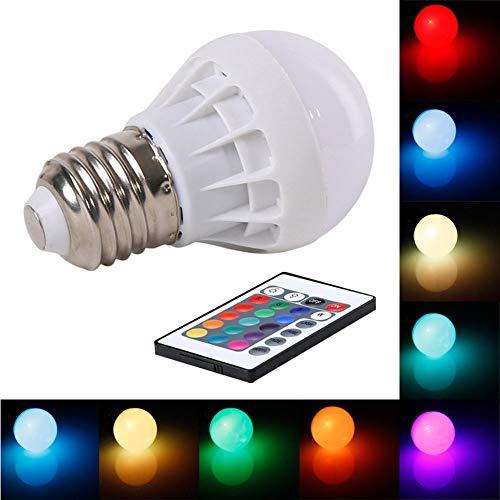 P12cheng E27 3 W RGB Magische Glühbirne Lampe Farbwechsel 85-265 V mit IR-Fernbedienung
