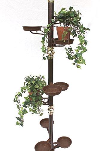 DanDiBo Teleskop Blumenregal Metall Spannregal bis 260 cm Blumensäule Blumentreppe Art.7 Blumenständer Pflanzensäule Pflanzenständer