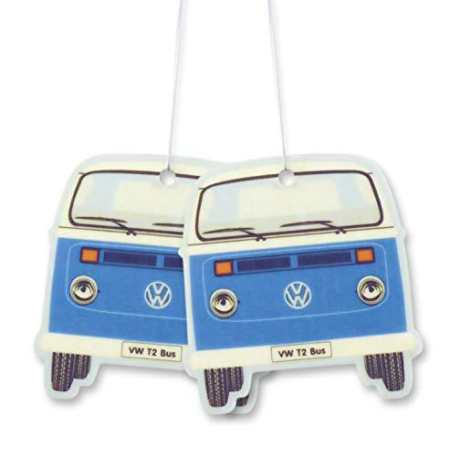 BRISA VW Collection - Volkswagen Scented Car Air Freshener Fragrance Deodorizer for Car/Auto or Home with Volkswagen Samba Bus T2 Camper Van Front Design (Sport Fresh/Blue/2-pc Set)