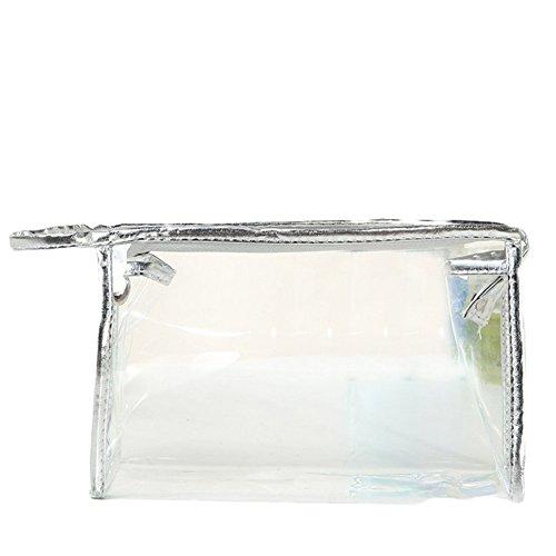 Chytaii - Neceser de baño para mujer, viaje, organizador de cosméticos, maquillaje, bolsa de almacenamiento para cuarto de baño, impermeable, transparente, PVC